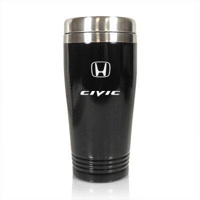 Honda Civic 14oz schwarz Edelstahl Reise Becher von