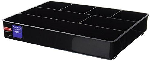 Rubbermaid Schubladeneinsatz für Schreibtisch, extra tief, Kunststoff, 30 x 38 x 6,3 cm, Schwarz - Organizer Schublade Rubbermaid