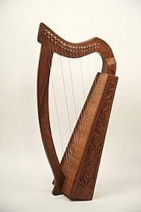 EMS Harpe Celtique Genou, 19 Cordes, Palissandre