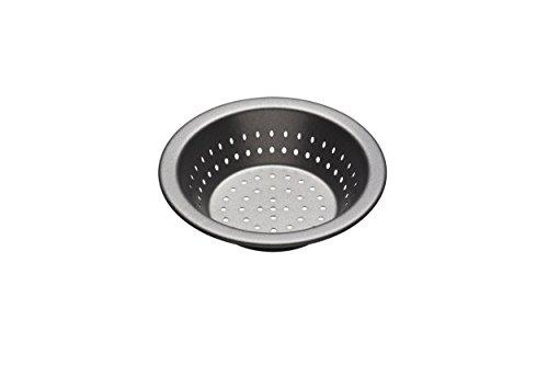 KitchenCraft KCMCCB73 Master Class kleine Antihaft-Auflaufform, rund, zum Backen, 12cm, stahl, schwarz, 3 set - Deep Pie Pan