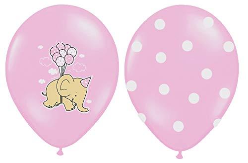 Libetui 10 Luftballons Deko Geburtstag Kinder Kindergeburtstag Party Baby Elefant Farbe Pastel Pink