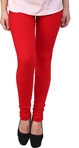 Civilized Womens Cotton Leggings(C110_Red_Free Size)
