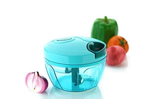 Amar Manual Food Chopper, Compact & Powerful Hand Held Vegetable Chopper/Blender to Chop Fruits/Vegetables/Nuts/Herbs/Onions/Garlics for Salsa/Salad/Pesto/Coleslaw/Puree