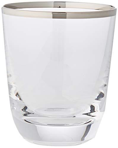 Cristal de Sèvres Margot Set de Verres à Whisky, Verre, Platine, 9 x 9 x 10 cm, Lot de 2