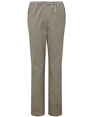 Cotton Traders Womens Ladies Pull-On Stretch Twill Trousers Leg Length 27
