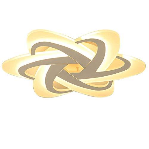 LED Dimmbar Deckenleuchte Schlafzimmerlampe Moderne Designer-Lampe Deckenlampe Kreativ Metall Acryl Florales Muster Decke Leuchte Deckenstrahler Innen Dekorativ Beleuchtung für Wohnzimmer Küche 48W -