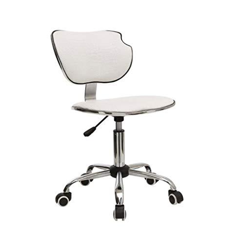 LYN Barhocker, Kreativer Aufzug Konferenzraum Büro Rotierenden Schwarz Und Weiß Computer Stuhl Bar Café Freizeit Drehstuhl (Farbe : Weiß)