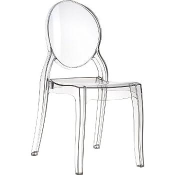 Officine fiam set sedia 2 pezzi elizabeth trasparente for Sedia design amazon