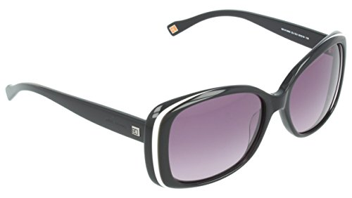 BOSS Orange Damen BO 0138/S EU ZL1 55 Sonnenbrille, Schwarz (Blkwhte Blk/Grey Sf),