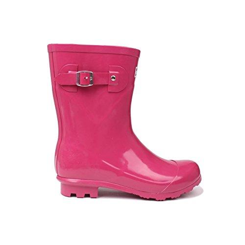 Sportliche Leder-heels (Kangol Low Damen Gummistiefel Regenstiefel Regenstiefeletten Regenschuhe Beere 6 (39))