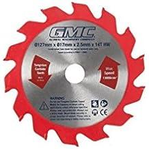 GMC 162294 - Disco de corte para sierra de suelos laminados (Hoja: 127 x 17 x 2,2 mm, 14 dientes)