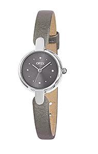 Opex 0 - Reloj de cuarzo para mujer, con correa de cuero, color gris de Opex