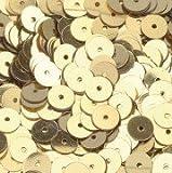 efco Runde, Flache Pailletten, Weiß, 6mm, 10g, 1000 Stück