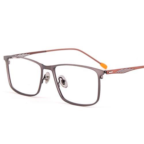 Blu-ray Glasses,Beobachten Sie Mobile Brillen,Advanced Lesung Gaming Brille,Glasses Anti Blue Light,Optischer Flacher Spiegel mit Metallbrillengestell,Entlastung der Augen vor Müdigkeit-Gray
