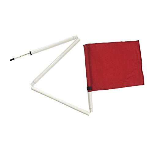 Kosma 4er Set Faltbare Eckfahnen - mit Tragetasche | Fußballtrainingsecke mit faltbaren Fahnenstange |Farbe- Rot| Größe: 5 ft x 25 mm
