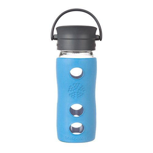 Lifefactory Cafe Collection Glas-Trinkflasche 350ml, Lapis Kitchen Collection Outlet