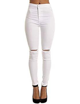 Yidarton Mujer Flacos De Cintura Alta Leggings Elásticos Skinny Slim Pantalones