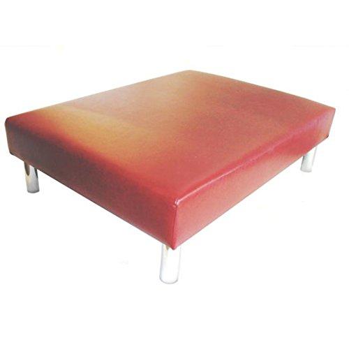 Hand Made Luxus groß Fußhocker/Couchtisch gepolsterten in a Alter Rotwein Leder–101,6x 76,2x 33cm High