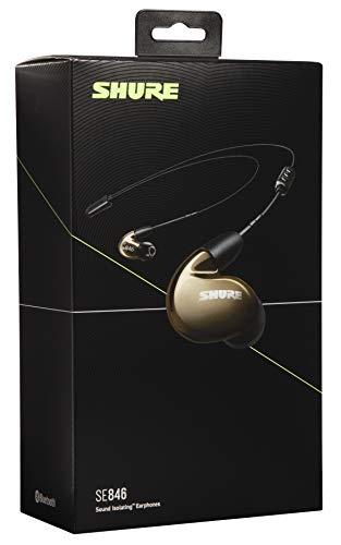 Shure SE846 Bluetooth 5.0 In Ear Kopfhörer mit Sound Isolating Technologie und Mikrofon für iPhone, iPad & Android - Premium Kabellos Ohrhörer mit warmem & detailreichem Klang - Bronze - 4
