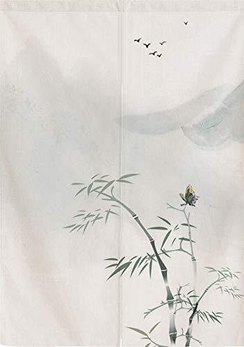 SK Studio Japonés Noren Puerta Cortina Panel de Tapicería Divisor de Casa Decoratio Chino De Bambú Style 9 27.56x47.24inch(70x120cm)
