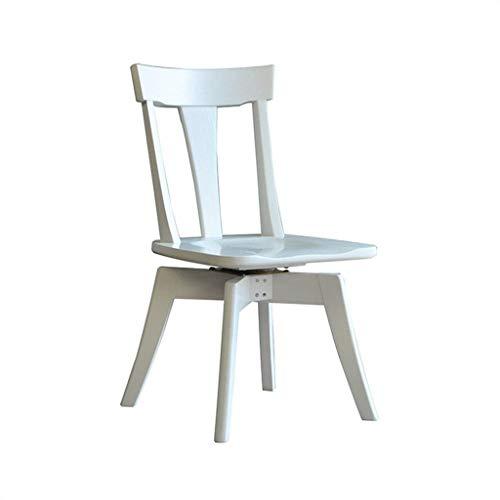 LXJJGF Esszimmerstuhl, Bürostuhl, Modernen Amerikanischen Minimalistischen Holzstuhl Studie Computer Stuhl Zu Hause (Farbe: Elfenbein) -