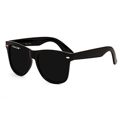 Mafs UV Protected Wayfarer Unisex Sunglasses(DSC_111|40|Black Matt)