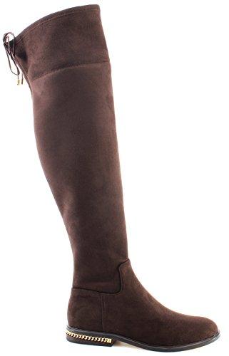 Michael Kors Damen Stiefel Schuhe Jamie Flat Knee Boot Stretch 40F7JMFB5S - Boots Michael Kors