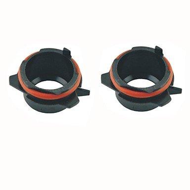 Auto h7 HID-Xenon-Lampe Kopf Konvertierungsadaptern Steckdosen schwarz für BMW E39 5er 525i 528i 530i 540i (2 Stück) - Hid-kopf