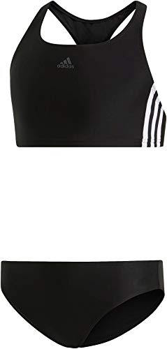 adidas Mädchen FIT 2PC 3S Y Swimsuit, Black/White, 13-14 Years