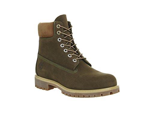 Timberland 6in Premium Boot Dark Rubber CA19SM, Stivali Verde (Dark Olive)