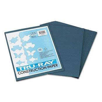 Pacon 103.028 Tru-Ray Construction Paper-76 libras -. 9 x 12 - Pizarra-50 hojas / paquete
