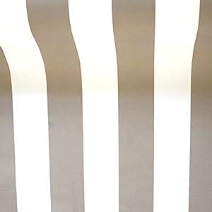 NOVELY® Sunrise Oxford 420D Markisenstoff   Weiß Dunkelbeige   extrem reißfestes und dichtes Gewebe   UV-beständig   Polyester Stoff Outdoor Meterware Strandkorb Zeltstoff wasserdicht