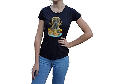 Shirt T-Shirt Welpen Hund Hündin Künstler Tier Haustier Geschenk Damen Kinder