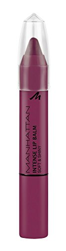 Manhattan Intense Lip Balm Soft & Shiny - Pflege, glänzendes Finish & intensive Farbe in einem Lippenstift - Farbe Berries & Cream 200 - 1 x 3g