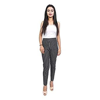 e5bc8a08855 Clothing   Accessories · Women · Western Wear · Jeans   Jeggings  Aglobi  Stretchable Printed Spandex Striped Jennings Ankle Length Pants Trousers for