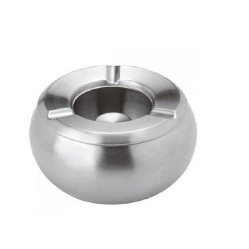 Luxpresso Windascher/Windaschenbecher Edelstahl/Aschenbecher für draußen, ØxH=10,5x6 cm