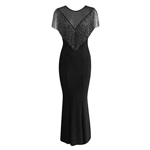 y Kleider Damen Große Größen Kleid Sommerkleid Sommer Festlich 50Er Jahre Lang Vintage Sexy Elegante Retro Prom Abschlussball Abend Maxi ()