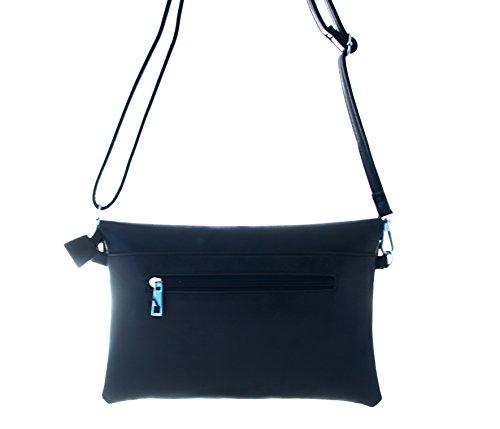 Borsa Da Donna, Questa Pochette È Disponibile Nei Colori Rosso, Giallo, Nero, Grigio, Beige, Blu E Verde Nero