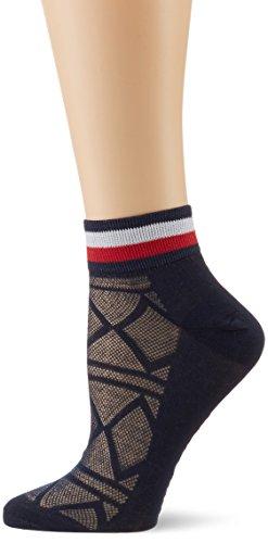 Tommy Hilfiger Damen TH Women Resort Short Sock 2P, 2er Pack, Blau (Midnight Blue 563), 35/38