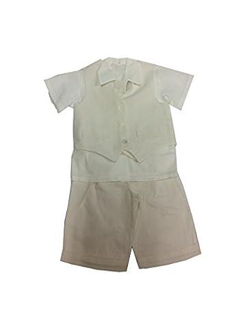 All bermuda ceremony Garcon, Linen Shirt, White or Beige -