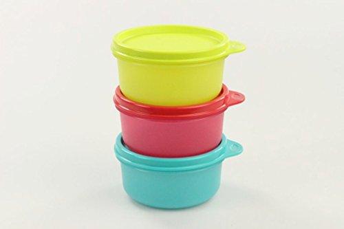 Tupperware - Contenitori per frigorifero, 200 ml, colore: Verde lime/Rosso/Turchese 29751