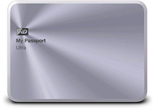 Western Digital 1TB silber My Passport Ultra Metal Edition tragbare externe Festplatte - USB 3.0 - WDBTYH0010BSL-EESN (Metall Festplatte Wd)