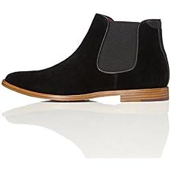 FIND Herren Built Sole Chelsea Boots, Schwarz (Black), 41 EU
