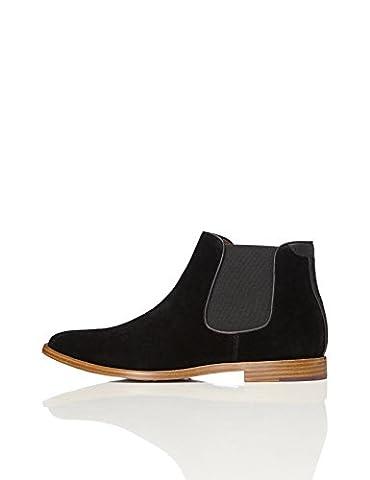 FIND Men's Chelsea Boots, Black (Black), 9 UK
