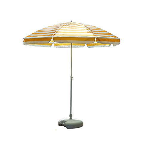 Unbekannt Outdoor-Sonnenschirm Sonnenschirm Angeln Sonnenschirm Sonnenschirm Stall Stand Garten Regenschirm tragbare Werbung Regenschirm Balkon Regenschirm (Farbe : Gelb, größe : 2.5m)
