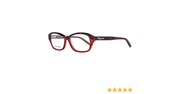 54.0 Donna Rot D-Squared Brillengestelle DQ5117 050-54-16-140 Montature Rosso