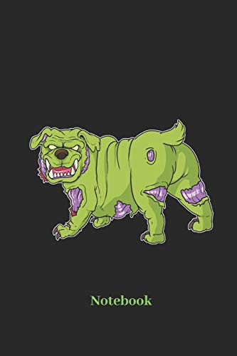 Notebook: Liniertes Notizbuch für Zombie, Hunde und Halloween Fans - Notizheft Klatte für Männer, Frauen und Kinder