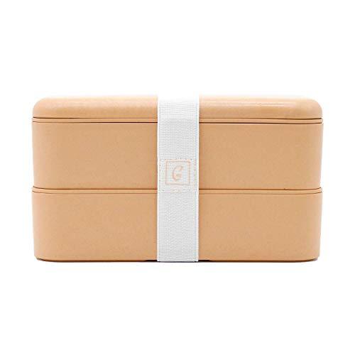 aGreenie die japanische Premium Bento Box - Eco Lunchbox – Brotdose für Kinder und Erwachsene - praktische Unterteilung in 4 Fächer - auslaufsicher - BPA frei - inkl. Besteck und gratis E-Book