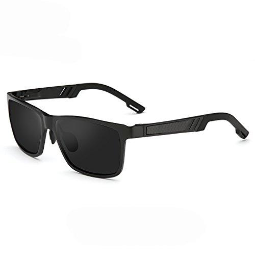 Xiuxiushop Premium Al-Mg-Legierung Aviator polarisierte Sonnenbrille UV400, voll verspiegelte Federscharniere Sonnenbrille für Männer Frauen (Color : 2)