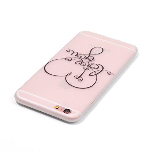 Felfy Silikon Case für iPhone 6 Plus Hülle,iPhone 6S Plus Luminous Cover Ultra Dünne Slim Silikon Etui Handy Hülle Weiche Transparente Luminous Gel TPU Back Case Leuchten In Der Nacht - Felfy Farbe Mu Love you